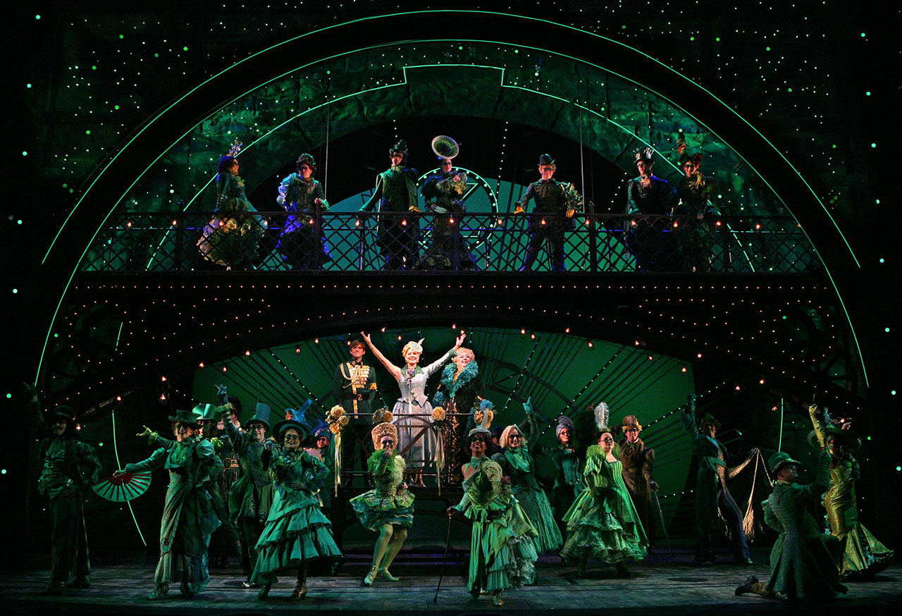 Wicked on tour for The broadway