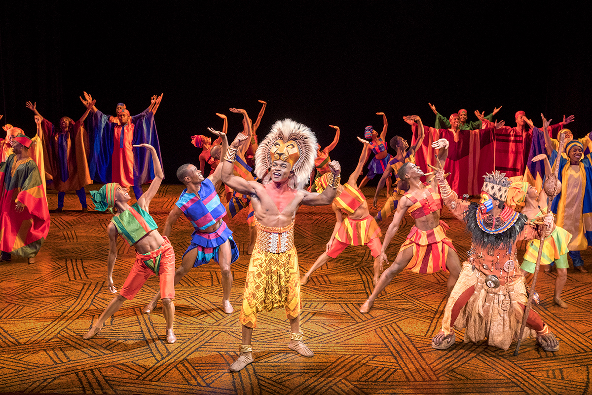 The lion king on tour for The broadway